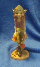 "Pixie Elf Gnome Sitting on Mushroom 8"" Tall"