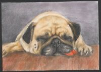 a01944 original ACEO dog cat mouse kitten ⭐AlbertStoneGallery⭐ by Koval