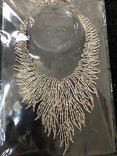 Indian Pakistani American Diamond statement Necklace Choker tradional bridal