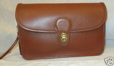 COACH Vintage British Tan Leather Large Wristlet/Clutch/ Handbag