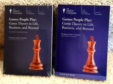 """Great Courses """"Games People Play Game Theory in Life, Business"""" DVD Book Set NEW"""