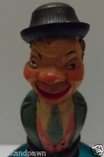 Vintage Anri Italy Hand Carved Hand Painted Guy Big Nose Stopper Original Label