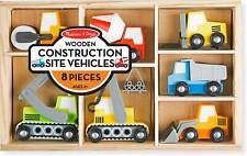 Melissa & Doug Wooden Construction Site With Wooden Storage Tray (8 pcs)