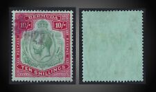 1918 - 1922 BERMUDA GEORGE V SCT.53 SG.54 USED UNLISTED ERROR GREEN CARMINE