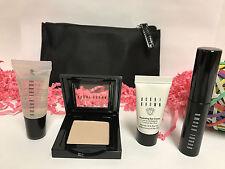 New Bobbi Brown To Go Set Eye Shadow/Eye Cream/Lip Gloss/Mascara/Bag