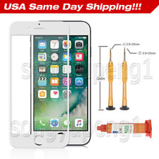 White Front LCD Outer Screen Glass Lens Replacement for iPhone 7 Plus UV Glue US