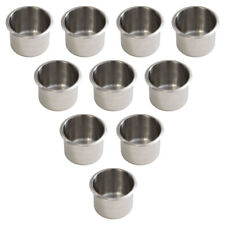 Small Stainless Steel Drop In Cup Holder For Poker Table and Boat(10 Pack) - NEW