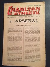 Charlton Athletic V Arsenal 11/12/1948