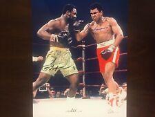 Muhammad Ali and Joe Frazier 8x10 signed