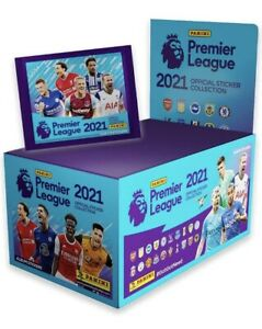 Panini Premier League 2020/2021: Full Box Of 100 packets of stickers. Open Box