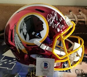 Dwayne Haskins FS Chrome Washington Redskins autographed helmet