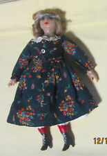 Vintage1950's? Wax Doll Looks to be Hand Made and Painted,Skin is Mottled,V Good