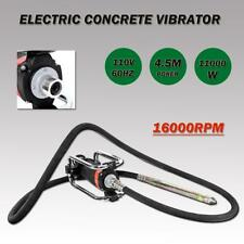 1100W Electric Concrete Vibrator 14-3/4 Ft to Remove Air Bubbles Level Concrete
