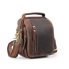 Vintage Style Men's Real Leather Small Waist Bag Messenger Shoulder Bag Handbag