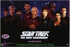 STAR TREK NEXT GENERATION MOVIE POSTER Original 90s Video One Sheet  RARE!