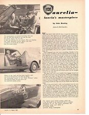 1952 LANCIA AURELIA ~ ORIGINAL 3-PAGE ARTICLE / AD