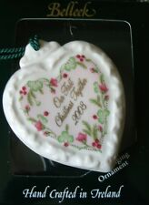 Belleek Porcelain China 2003 OUR FIRST CHRISTMAS TOGETHER Heart Ornament NIB