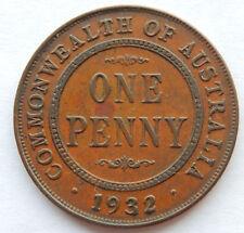 1932 Commonwealth of Australia One Penny Coin  KM#23  SB5253