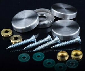 Screw Caps and Covers Round Shape (Satin,Chrome and Golden Platted) 3 colours