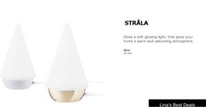"Ikea LED Table Lamp - 7.75"" - STRÅLA - Gold"