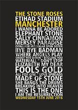 The Stone Roses - Set List Poster - Etihad Stadim - Manchester June 2016
