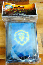 OFFICIAL WORLD OF WARCRAFT TCG SLEEVES (75 sleeves + UDE points card) NEUF