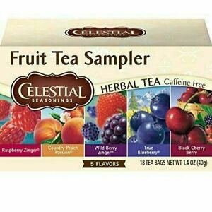 Celestial Seasonings Fruit Tea Sampler, 18 ct