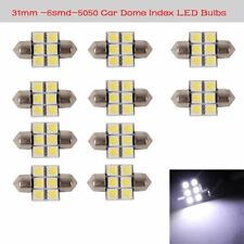 10pc White 31MM 5050 6SMD Festoon Dome Map Interior LED Light DE3175 Fog Lamp