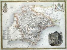 DEVON, Thomas Moule, Original Antique County Map c1840