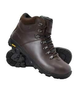 Mens Brown Breacon Waterproof Vibram Hiking Trekking Boots Shoes