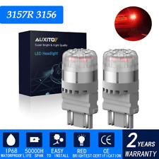 2X AUXITO 3157 3156 SMD LED Turn Signal Brake Tail Light Bulb Super Red For Ford