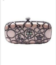 new  NICLAIRE SKULL METAL FRAME CLUTCH last