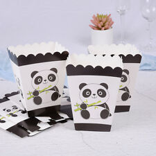 6pcs Panda Party Popcorn Box Happy Birthday Party Candy Boxes for Kids Gifts ^P