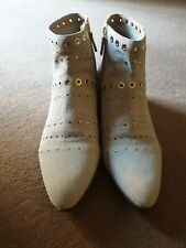 Brand New Geox Respira Suede Studded Boots Size 41 (Uk 8)