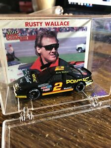 Vintage Rusty Wallace Black Pontiac #2 © 1991 Racing Champions 1:64 NASCAR car