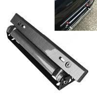 1Pc Black Adjustable Carbon Fiber Number Car Racing License Plate Frame Holder