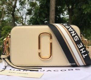 BNWT MARC JACOBS SNAPSHOT BAG Cream and Black Small Camera bag dustbag tags