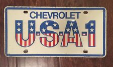Chevrolet USA-1 License Plate Rare Item Collectible Antique