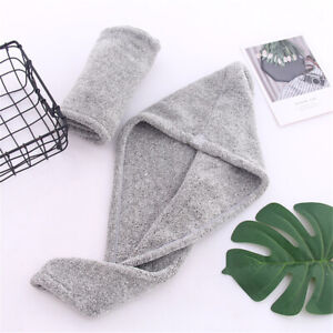 Rapid Fast Drying Hair Towel Head Wrap Absorbent Shower Hat Hair Cap Bamboo