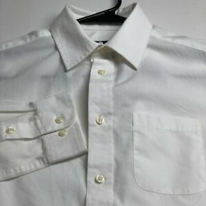 Cherokee Boy's Long Sleeve Button Up Shirt Large L 12 14 White Pocket