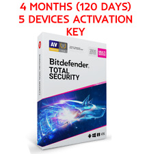 Bitdefender Total Security 2020/19 4 Months (120 Days) 5 Devices License Key