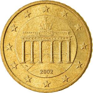 [#766608] République fédérale allemande, 50 Euro Cent, 2002, TTB, Laiton, KM:212
