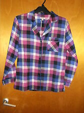 Fairy Dust Soft Touch Brushed Cotton Flannel Pyjama Top UK 6-8 Purple Mix BNWT