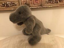 "VTG Ganz Grey Dinosaur T-Rex  17"" plush jointed Heritage Collection stuffed"