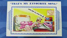 Vintage Comic Postcard 1940s Antique Radio Wireless CHAMBER POT Theme