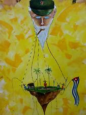 """Original Cuban Art Abstract handpaint contemporary - modern expression 40""""x32"""""""