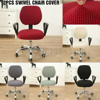 Stretch Removable Office Chair Cover Stretch Computer Armchair Seat Slipcover
