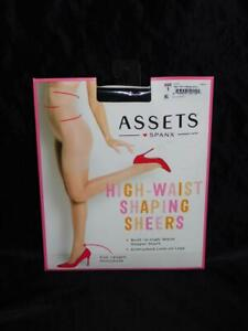 Spanx Assets Size 1 S Black High Waist Shaping Sheers Pantyhose Full Length NEW