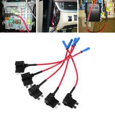 5 Car Add Circuit 15A Piggy Back Tap Standard ATO ATC Blade Fuse Boxe Holder Set