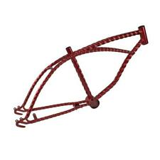 """Red 20"""" Twisted Bicycle Frame Lowrider Cruiser Bikes"""